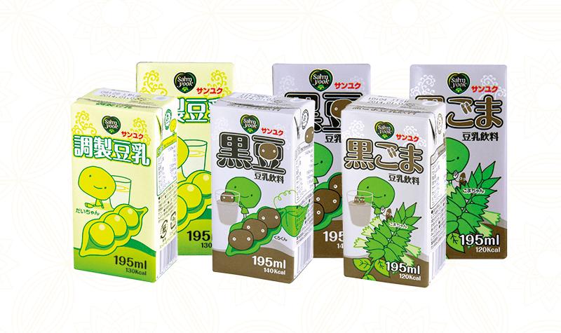 三育サンユク豆乳 パッケージ デザイン制作